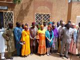 "Atelier drépanocytose Niger - The associations from the ""West Africa-Madagascar Sickle Cell Disease"" network, accompanied by Ms. Anne Poyard-Vatrican, Deputy Director of International Cooperation, being received at the National Assembly of Niger.  ©DCI"