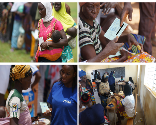 Aide d'urgence 2018 - 2018 emergency aid – Food distribution (cash transfer, food coupons, food baskets) by the World Food Programme in Burkina Faso. © WFP Burkina Faso