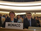 The 39th Session of the Human Rights Council - H.E. Ms. Carole Lanteri, Ambassador, Permanent Representative of the Principality to the United Nations Office at Geneva, Gille Réalini, First Secretary and Francesca Casalone, intern at the Permanent Mission of Monaco to the United Nations Office at Geneva ©DR