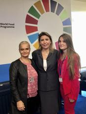 Meeting ONU in Rome - Ms. Martine Garcia-Mascarenhas, Deputy Alternate Representative to the FAO and the WFP, Ms.Stephanie Hochstetter Skinner-Klee, Director of RBAs and CFS in the WFP's Government Partnerships Division and Ms. Lisa Battaglia (Student Intern) ©DR