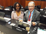 CA du PAM 2019 UK - Yordanos Pasquier, Senior Programme Manager at the Department of International Cooperation and H.E. Mr. Robert Fillon, Ambassador of Monaco to Italy, Permanent Representative to the Rome-based Multilateral Organisations ©DR
