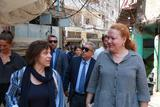 Liban Juin 2019 - Visite Mme Rosabrunetto Camp Bourj el-Barajneh - Isabelle Rosabrunetto, accompanied by Daniela Leinen, Deputy Director of UNRWA Affairs in Lebanon, visits the Bourj el-Barajneh camp. © UNRWA