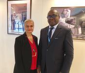 PAM - Ms Martine Garcia-Mascarenhas, Deputy Alternate Representative to the FAO and the WFP, and Sory Ibrahim Ouane, WFP Representative and Country Director in Niger © DR